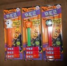 Lot of 3 Halloween Pez Candy Dispenser w 3 Candy Refills Brand NEW Sealed