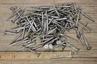 """"""" BRAD NAILS 100 lot antique square wrought iron look round flat heads 1.5"""