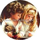 10 Off Heaven  Earth Designs Ctd X stitch chart Christmas Children Ornament