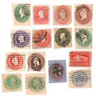Small Lot of Used US Cut Square Postal Stationery Stamps