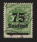 OPC 1923 Germany 250th on 300m Inflation Sc#257 Mi#293 Used