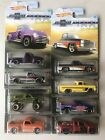 2018 Hot Wheels CHEVY TRUCKS 100 Years COMPLETE 8 Car Set
