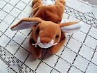 Ty Beanie Baby Ears Brown Bunny Swing Tag DOB: April 18, 1995 Tush 95 and Star