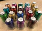 18 Spools METALLIC Embroider Machine Thread Thread Nets for Easy Embroidery