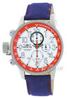 New Mens Invicta 12079 I-force White Dial Royal Blue Cloth Strap 46mm Watch