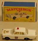 DTE LESNEY MATCHBOX REGULAR WHEELS 55 3 FORD GALAXIE POLICE CAR IN CORRECT BOX