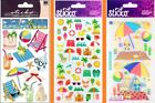 U CHOOSE Sticko Stickers THE SHORE BEACH TRAVEL ICONS BEACH TIME Sand Castle