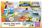2008 Matchbox City Links Police  Bank Roadways Playset Sheriff Car Cruiser NEW