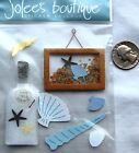 Jolees stickers beach oceanside frame picture real sand message in bottle shell
