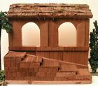 FONTANINI ITALY 75 RETIRED LIGHTED NATIVITY VILLAGE TOWN BUILDING 50703 GC