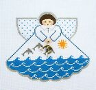 Dolphins Ocean Angel with Charms handpainted Needlepoint Canvas by Painted Pony