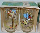 Vintage Set of 4 Holly Hobbie 12 Oz Glasses Libbey in the box Riding Bicycle