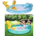 Inflatable Baby Swimming Paddling Pool Slide Toys Water Spray Outdoor Garden Fun