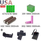 USA 18650 VTC6 5 4 S ony Samsung LG Rechargeable Battery w Slot for Mod LOT