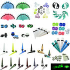 5 Pairs Random Ear Tapers Tunnels Ear Gauges Plugs Expandar Stretching Jewelry