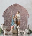 Willow Tree Holy Family with Shelter and Sheltering Animals Nativity 6 Piece Set