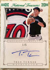 TREA TURNER 2015 NATIONAL TREASURES GREEN SILHOUETTE ROOKIE AUTO LOGO PATCH # 5