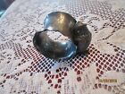 SILVERPLATE NAPKIN RING CHICK WITH DESIGNS ON IT 2 x1.5
