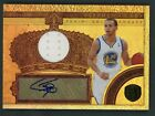 STEPHEN CURRY 2010-11 PANINI GOLD STANDARD GOLD CROWNS MATERIALS AUTO #143 199