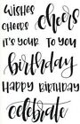 Celebrate Birthday Sayings Letter It Clear Acrylic Stamp Set by Ranger LEC59295