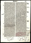 Old Testament Bible Leaf 1519  Second Book of Samuel 15-17 Numerous Annotations