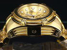 NEW Invicta Reserve 52mm Bolt Zeus Swiss Chronograph 18K Gold IPSS Diver Watch