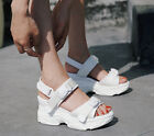 Women Ankle Strappy Buckle Sneakers Wedge Heels Sport Athletic Sandals Shoes