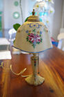 Antique  Boudoir Lamp HAND Painted Shade AND BASE
