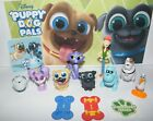 Disney Puppy Dog Pals Figure Set of 12 With Skateboards Sticker and PAW Tattoo