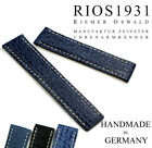 22mm /20mm German RIOS Shark Skin Leather for Breitling Deployant Clasp Band