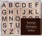 SMALL UPPER CASE ALPHABET Rubber Stamps 147649 Recollections Set 30 Brand NEW
