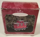 Tin 1998 Yuletide Central Train Red Caboose Hallmark Keepsake Ornament