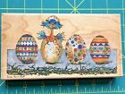 CAROLYN SHORES WRIGHT SURPRISE EASTER EGGS STAMPS HAPPEN WOOD MOUNT RUBBER STAMP