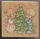 Stampendous Precious Moments Rubber Stamp Our First Christmas UQ005 NEW