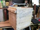 PRIMITIVE WOODEN EGG BOX WOOD SHIPPING CRATE CARRIER ANTIQUE ATWOOD  COFFEE