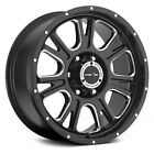 Vision FURY Wheels 18x85 25 5x150 1102 Black Rims Set of 4