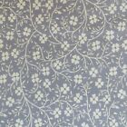 1 2 Yard Cotton Quilting Sewing Fabric Small Flower Vines Calico On Gray