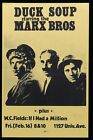 1972 MARX BROTHERS Duck Soup University Wisconsin MOVIE POSTER PRIVAE SHOWING