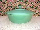 Fire King Anchor Hocking Green Jadeite 2000 2 Qt Casserole 9 1/2 Bowl with Lid
