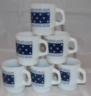 WHITE Polka Dot Lace Stackable Coffee MUGS Cup
