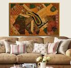 "60"" EXQUISITE VINTAGE DÉCOR HEAVILY BEADD SARI MOTI KUNDAN WALL HANGING TAPESTRY"