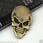 Fairing Gold Metal Skull Demon Bone Badge Emblem Metal Decal Sticker For Yamaha