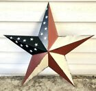 Primitive Americana Metal Barn Star 18 inch Country Rustic Farm Decor