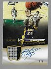 KOBE BRYANT 2012-13 Panini Anthology PATCH AUTOGRAPH #6 8 SSP LOS ANGELES LAKERS