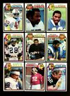 1979 TOPPS FOOTBALL STAR & ROOKIE CARD LOT OF 250 MINT *110294