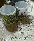 Elsie Love/Love Conquers All Milk Glass Mugs Cups Elephant,Monkey Set of 2 EUC
