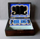 ANTIQUE 19th Century INLAID WOOD SEWING BOX with FITTED INTERIOR circa 1860