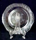 Depression Glass Florentine Salad Plate Hazel Atlas Clear Patterned Vintage