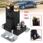 Universal 4 Pin 12V 500A Car Starter On Off Power Switch Dual Battery Isolator