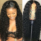 Water Wave Lace Front Wig 100% Real Peruvian Virgin Human Hair Full Wigs Black s